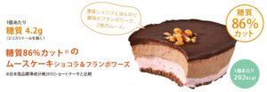 シャトレーゼの糖質制限ムースケーキの写真